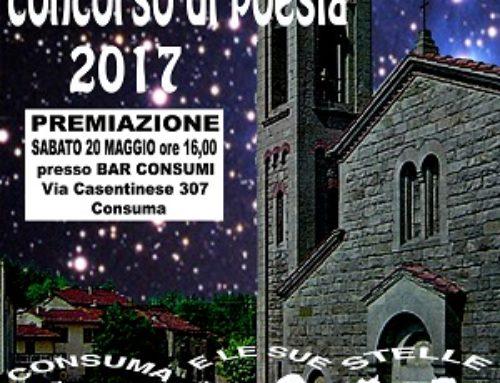 """Premiazione XII° edizione concorso """"Consuma e le sue stelle"""" c/o Bar Ristorante Consumi"""