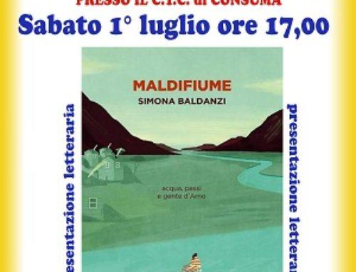 """Presentazione letteraria """"Maldifiume"""" di Simona Baldanzi"""